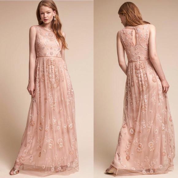 9c4d915f2e628 Anthropologie Dresses | Abbington Evening Dress Gown Bhldn | Poshmark